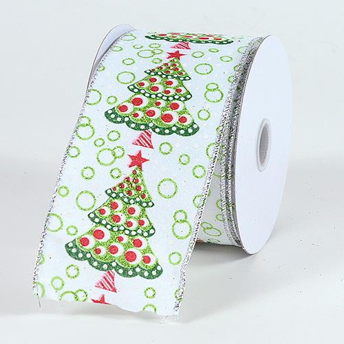 Christmas Ribbon X'mas tree ( 2-1/2 Inch x 10 Yards ) - X32104001