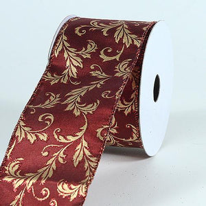 Christmas Ribbon Burgundy ( 2-1/2 x 10 Yards ) - X32594010
