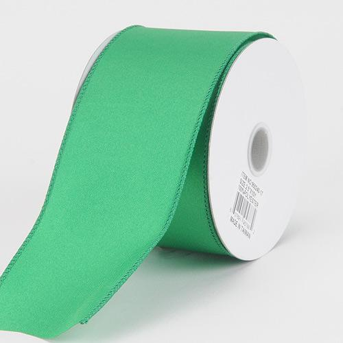 2-1/2 x 10 Yards Emerald Satin Ribbon Thick Wired Edge