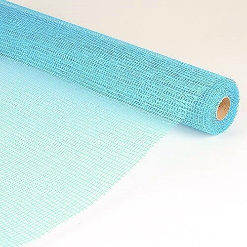 Light Blue  - Natural Cotton Jute -  ( 21 Inch x 6 Yards )