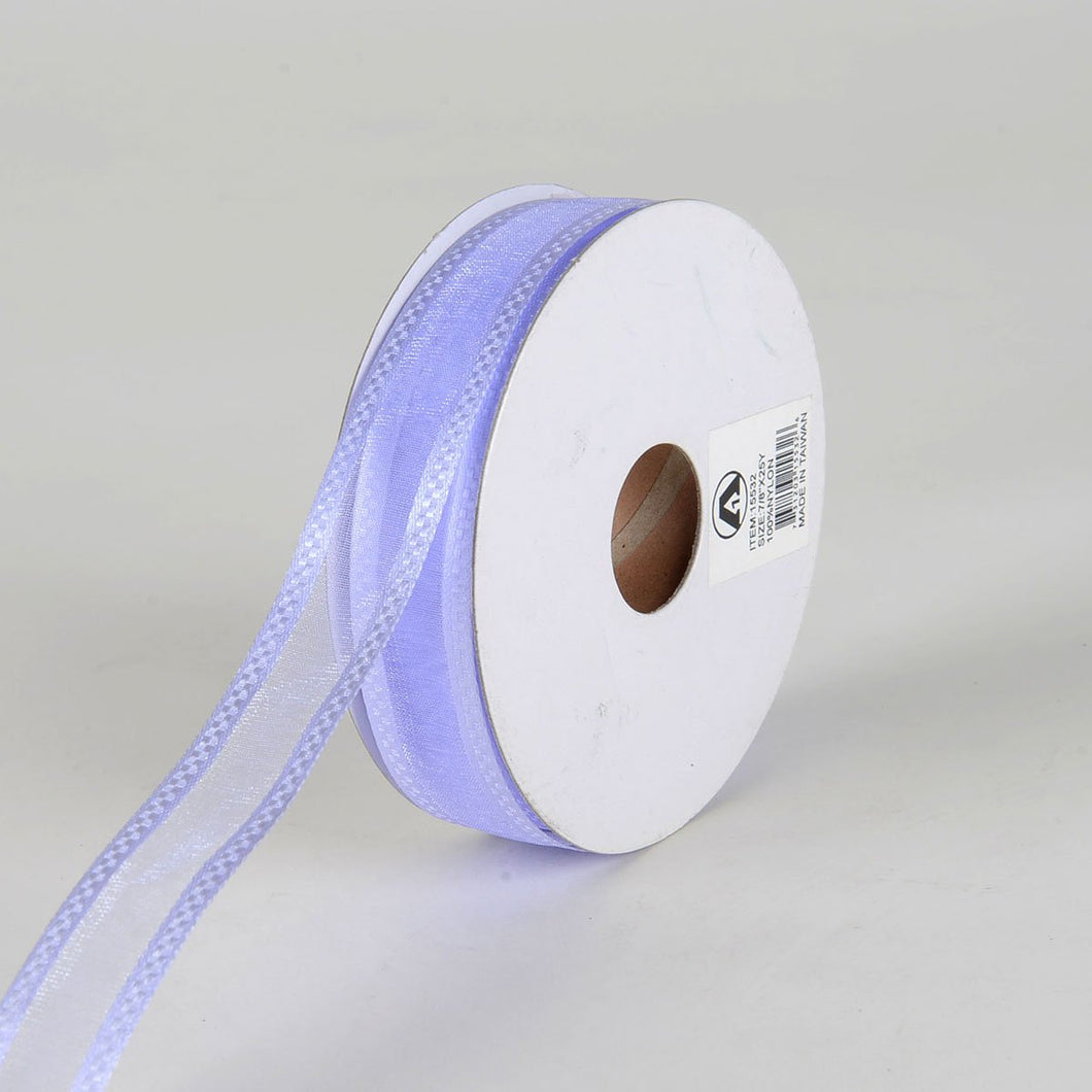 Iris - Organza Check Edge Ribbon - (  7/8 Inch | 25 Yards  )