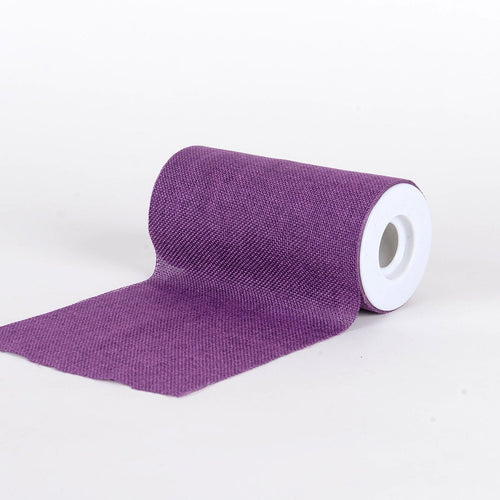 Purple -  Faux Burlap Roll ( W: 6 inch | L: 10 Yards )