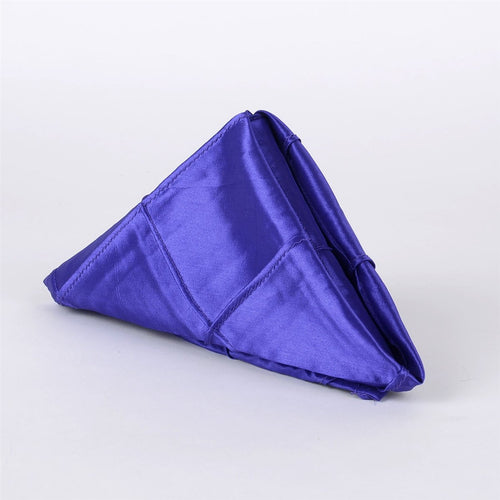 Purple - 17 x 17 Pintuck Satin Napkins - Pack of 5