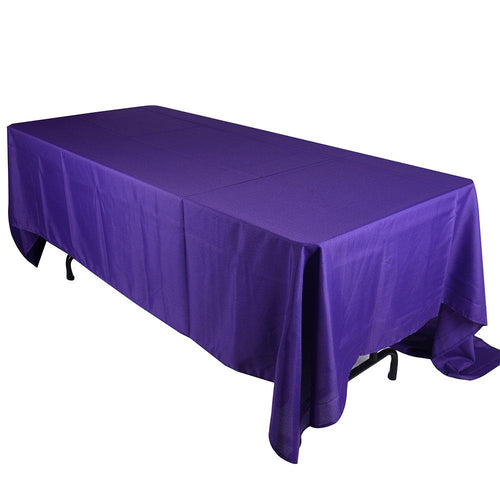 Purple - 90 x 156 Rectangle Polyester Tablecloths - ( 90 inch x 156 inch )
