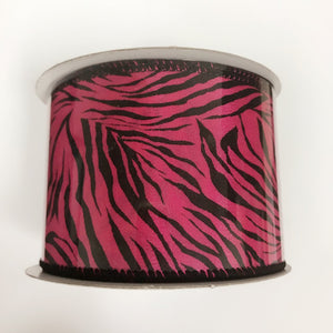 Zebra Print Ribbon ( 2-1/2 Inch x 10 Yards ) - Q1944028