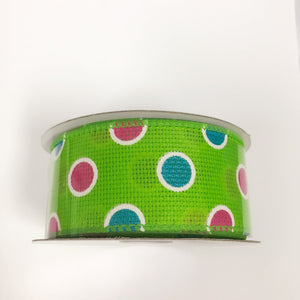 Spring Ribbon Apple Green ( 1-1/2 Inch x 10 Yards ) - Q41410909