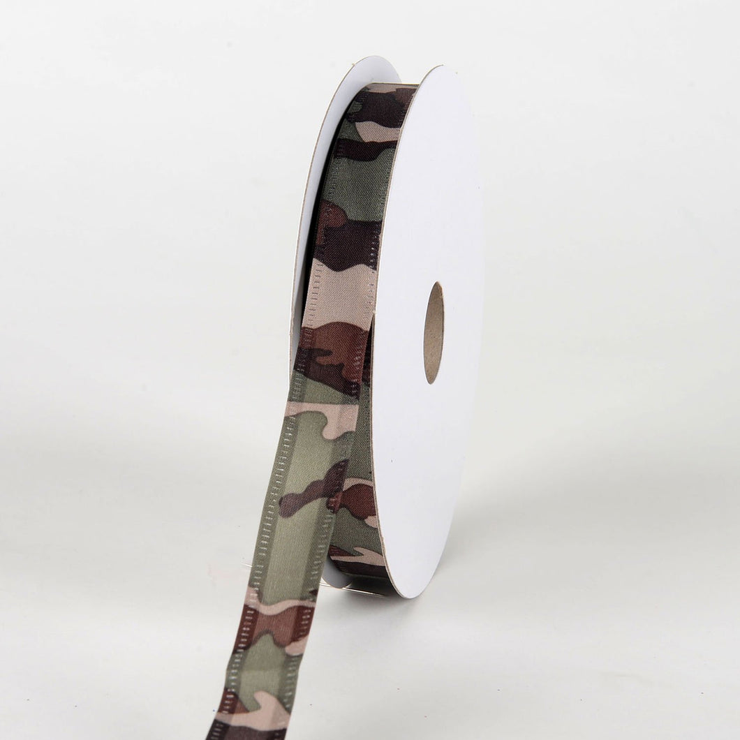 Camouflage Corsage Wired Ribbon 5/8''x 25yds