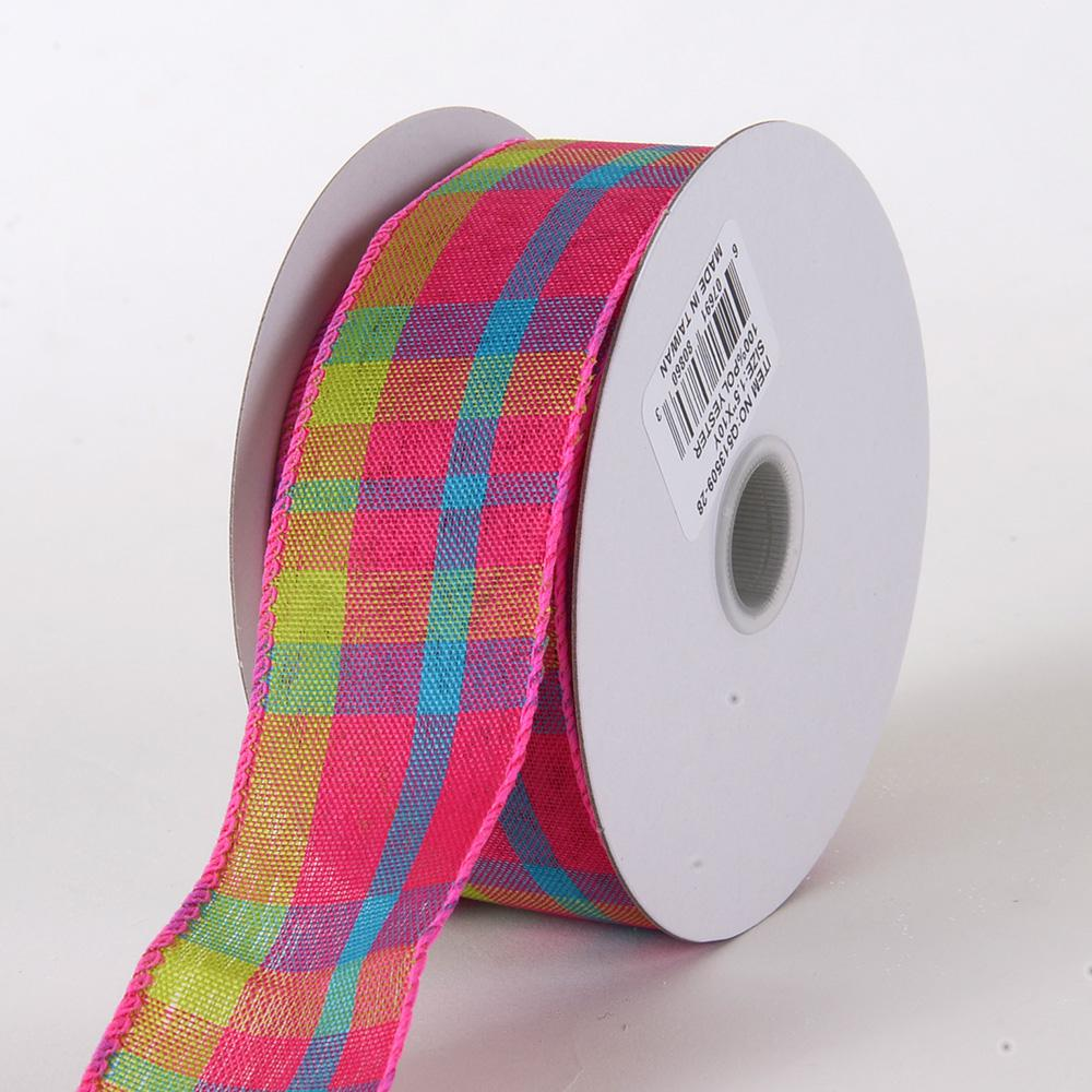 Checkered Wired Ribbon ( 1-1/2 Inch x 10 Yards ) - Q51350928