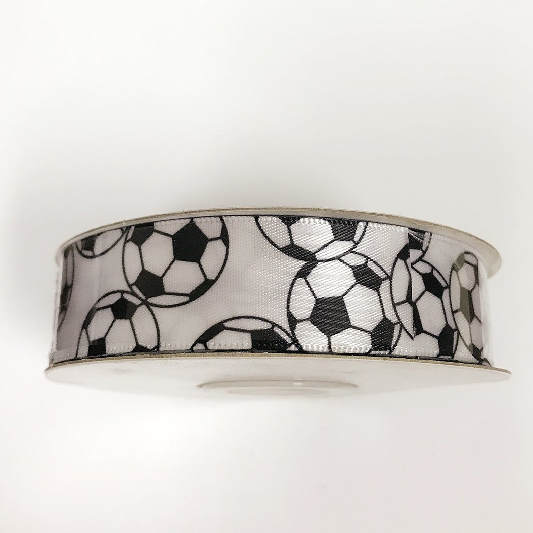 Soccer - Satin Ribbon Sports Design - ( W: 1-1/2 Inch | L: 25 Yards ) - S90170904