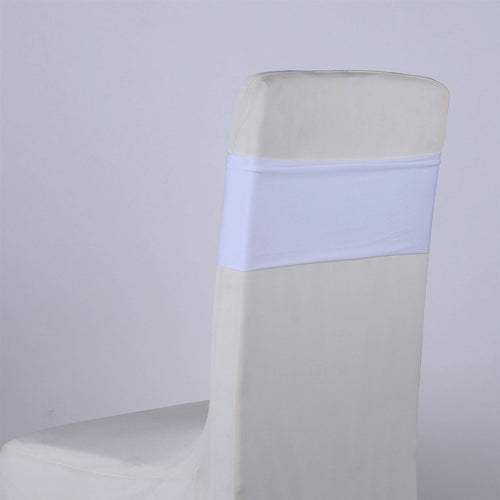White Spandex Chair Sash 5 pieces