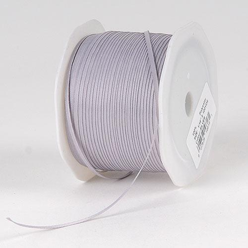 Silver Satin Ribbon 1/16 x 300 Yards - ( W: 1/16 inch | L: 300 Yards )