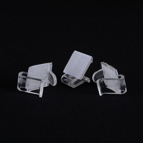 1 Dozen LARGE Plastic Table Skirt - Clips Clear 0.6 Inch