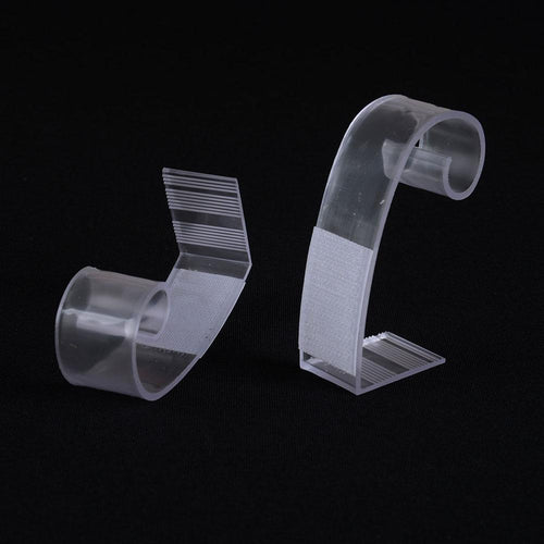 1 Dozen LARGE Plastic Table Skirt Clips - Clear 3 Inch