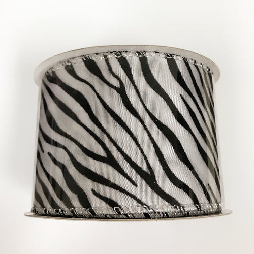 Zebra Print Ribbon ( 2-1/2 Inch x 10 Yards ) - X11674001