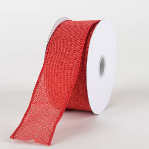 Red - Canvas Ribbon - ( W: 1-1/2 inch | L: 10 Yards )