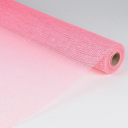 Pink  - Natural Cotton Jute -  ( 21 Inch x 6 Yards )