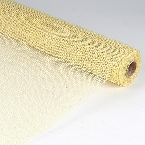 Ivory  - Natural Cotton Jute -  ( 21 Inch x 6 Yards )