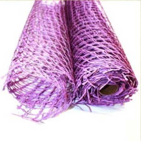 Purple  - Natural Jute Mesh -  ( 21 Inch x 6 Yards )