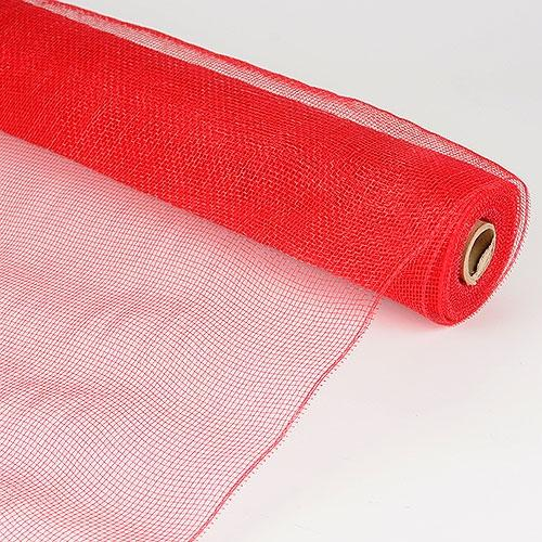 Red  - Floral Mesh Wrap Solid Color -  ( 10 Inch x 10 Yards )