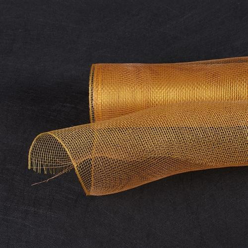 Old Gold  - Floral Mesh Wrap Solid Color -  ( 21 Inch x 10 Yards )
