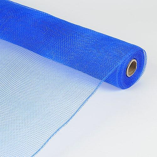 Royal Blue  - Floral Mesh Wrap Solid Color -  ( 21 Inch x 10 Yards )
