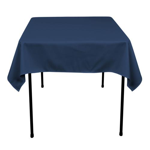 Navy - 52 x 52 Square Tablecloths - ( 52 Inch x 52 Inch )