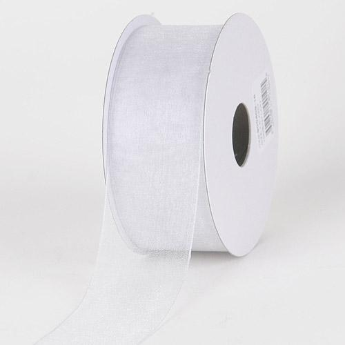Silver - Sheer Organza Ribbon - ( 7/8 inch | 25 Yards )