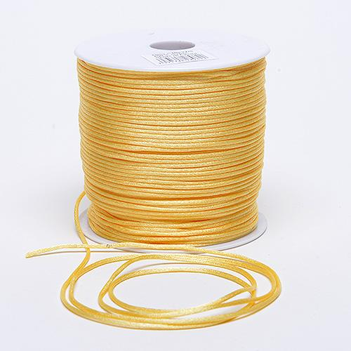 Yellow - 2mm Satin Rat Tail Cord - ( 2mm x 100 Yards )