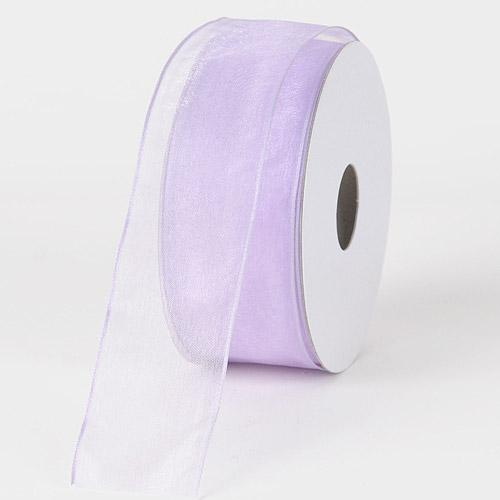 Lavender - Organza Ribbon Thin Wire Edge 25 Yards - ( W: 5/8 inch | L: 25 Yards )