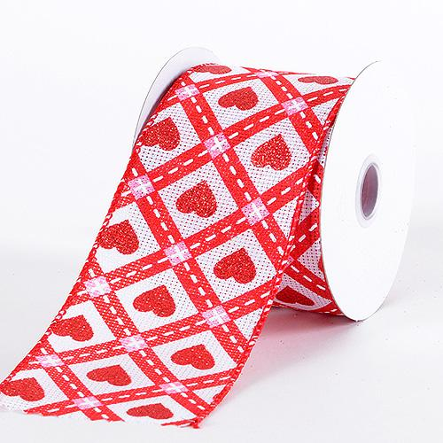 Valentine Ribbon Red ( 2-1/2 Inch x 10 Yards )