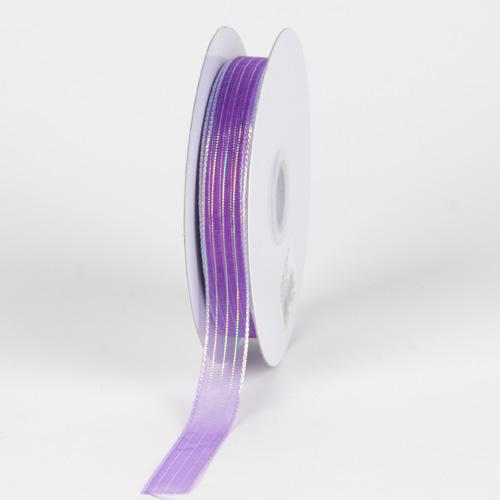 Corsage Ribbon Purple Iridescent ( W: 3/8 inch | L: 50 Yards )