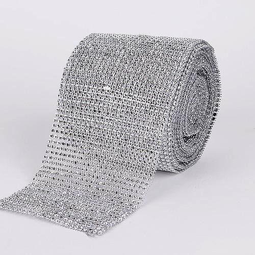 Silver - Bling Diamond Rolls - ( 1-1/2 Inch x 10 Yards )