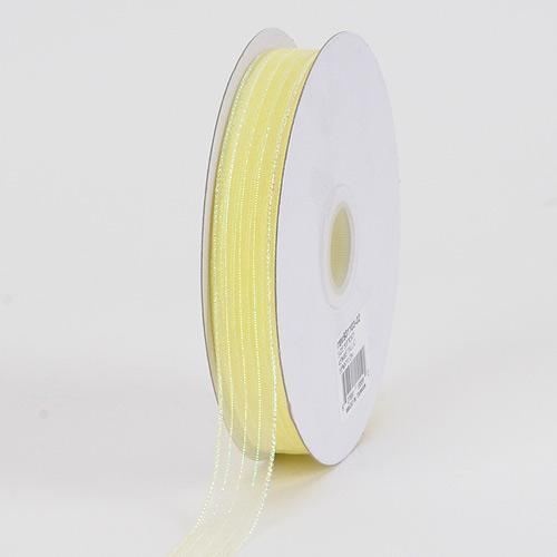 Corsage Ribbon Maize Iridescent ( W: 3/8 inch | L: 50 Yards )