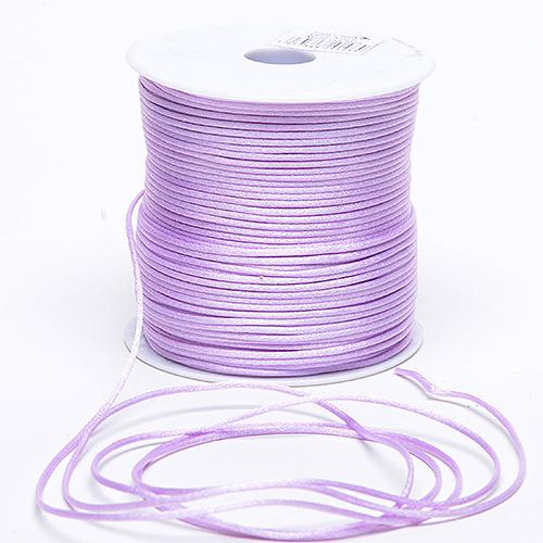 Lavender - 2mm Satin Rat Tail Cord - ( 2mm x 100 Yards )