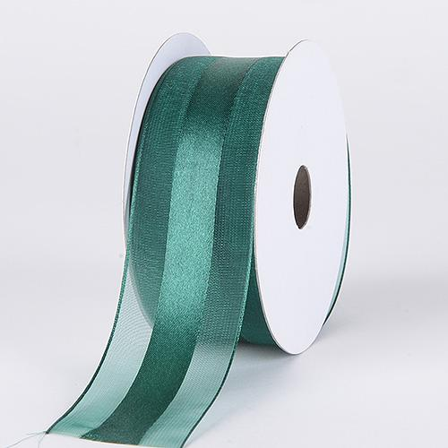 Hunter - Organza Ribbon Satin Center - ( W: 5/8 inch | L: 25 Yards )