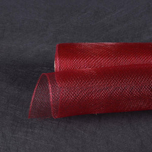Burgundy  - Floral Mesh Wrap Solid Color -  ( 10 Inch x 10 Yards )