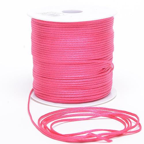 Hot Pink - 2mm Satin Rat Tail Cord - ( 2mm x 100 Yards )