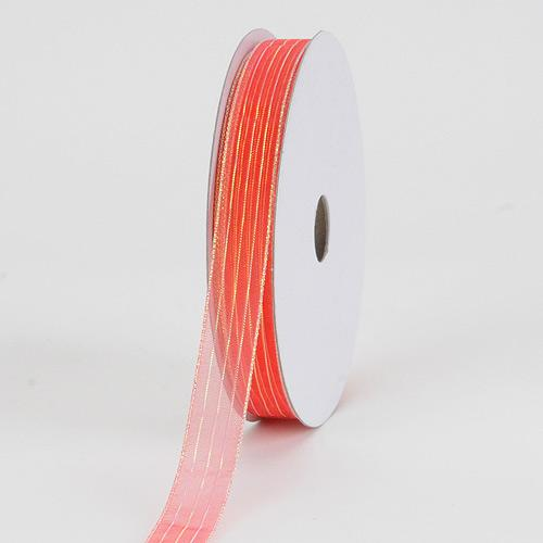 Orange - Corsage Ribbon - ( W: 3/8 inch | L: 50 Yards )