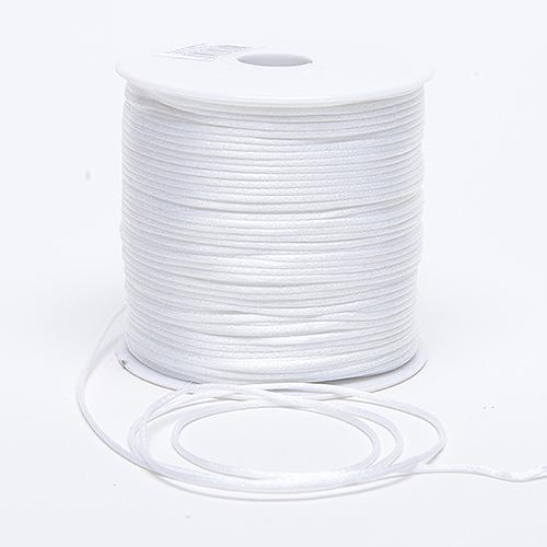White - 2mm Satin Rat Tail Cord - ( 2mm x 100 Yards )