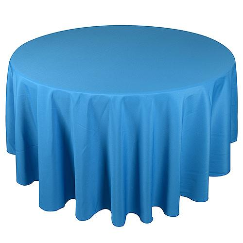 Turquoise - 90 Inch Round Tablecloths - ( W: 90 Inch | Round )