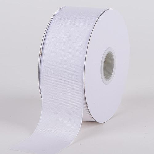 White - Satin Ribbon Double Face - ( W: 1-1/2 inch | L: 25 Yards )