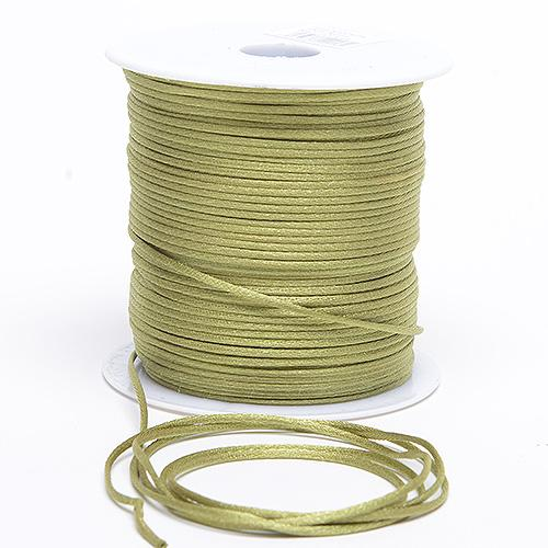 Moss - 2mm Satin Rat Tail Cord - ( 2mm x 100 Yards )