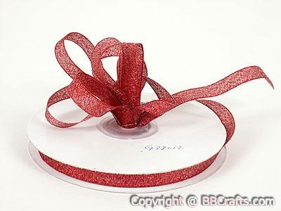 Red - Metallic Ribbon - ( W: 1/4 inch | L: 25 Yards )
