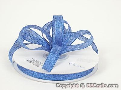 Royal - Metallic Ribbon - ( W: 1/4 inch | L: 25 Yards )