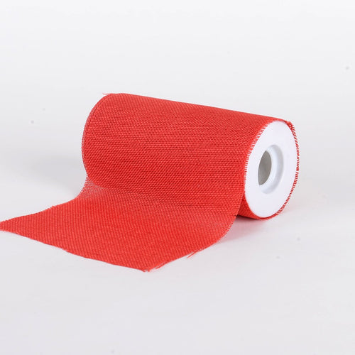 Red -  Faux Burlap Roll ( W: 6 inch | L: 10 Yards )
