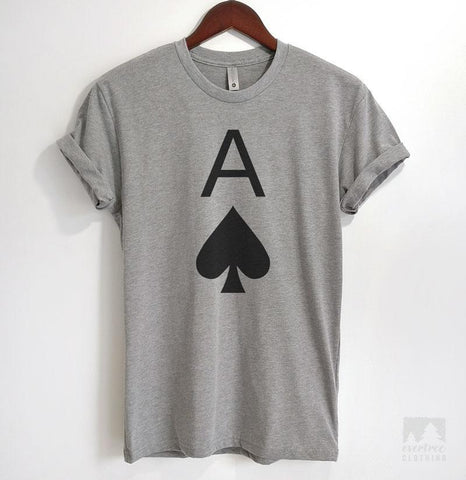 Ace Of Spades Heather Gray Unisex T-shirt
