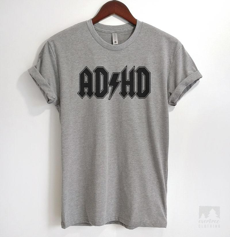 AD/HD Heather Gray Unisex T-shirt