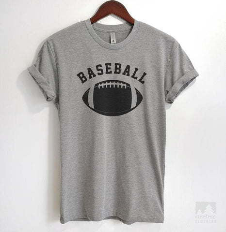 Baseball Heather Gray Unisex T-shirt