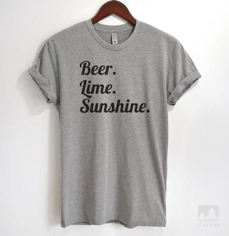 Beer Lime Sunshine Heather Gray Unisex T-shirt