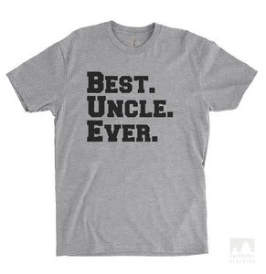 Best Uncle Ever Heather Gray Unisex T-shirt